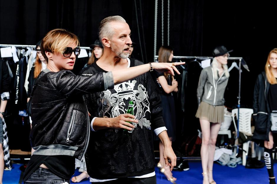 Robert Kupisz i Kasia Sokołowska na backstage'u