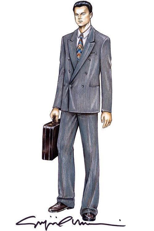 """Kostiumy projektu Giorgio Armani do filmu """"Wilk z Wall Street"""""""