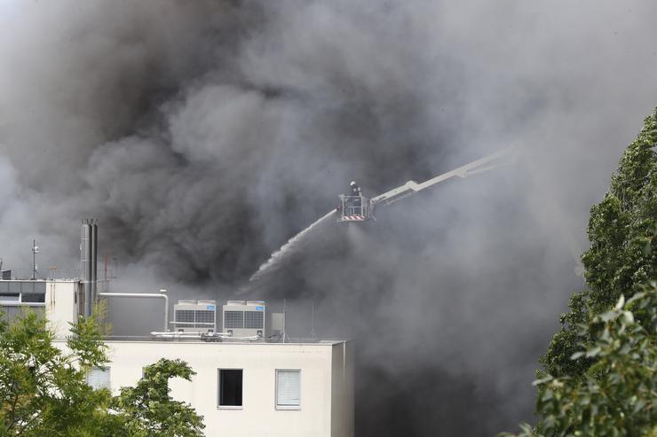 Tűz a Frangepán utcában /Fotó: Fuszek Gábor