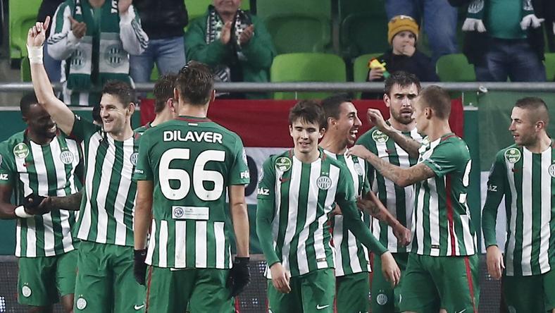 A ferencvárosi futballistáknak minden okuk megvan az elégedettségre. A szezonbeli 24 élvonalbeli meccsükből 19-en győzelmet arattak, 20 pont az előnyük a tabellán. / Fotó: FUSZ