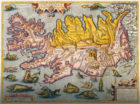 Karta Islanda iz 16. veka