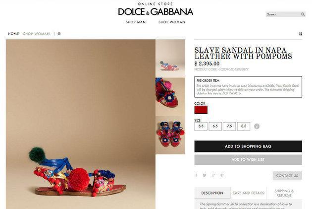 Sandałki Dolce & Gabbana