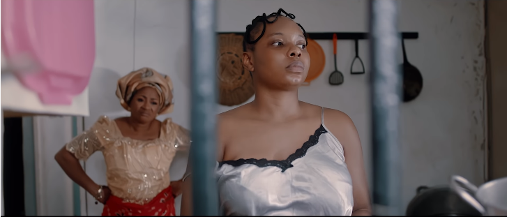 Mama Ada is disappointed by Nneka, who is hell bent on falling in love. [YouTube/Yemi Alade]