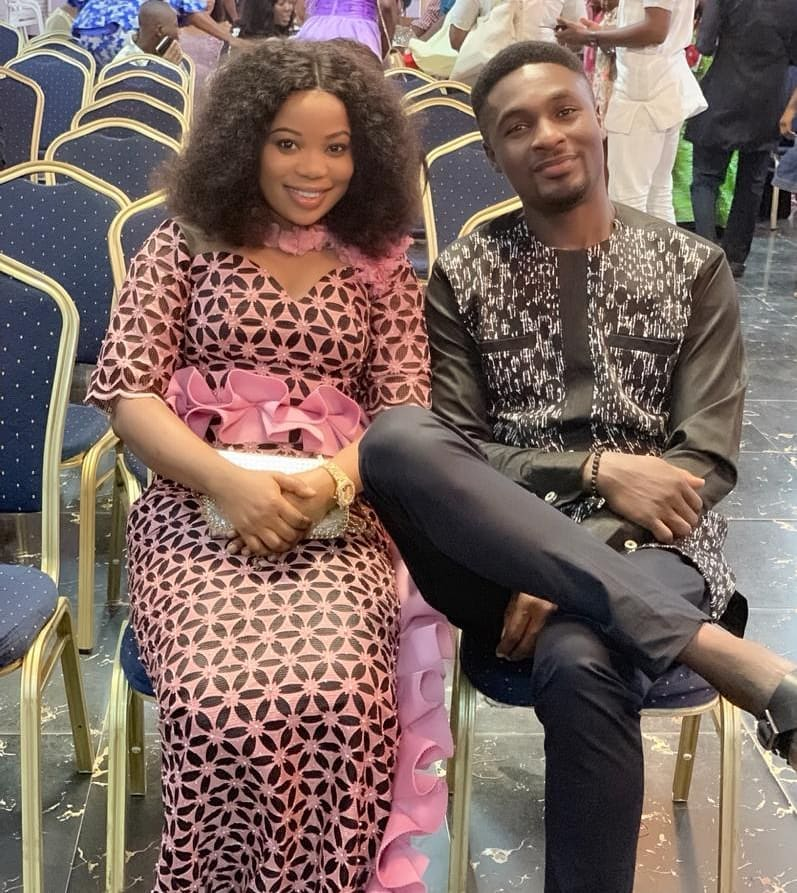 Adeniyi Johnson and Seyi Edun have been dating for a while now. They, however, sparked off break up rumours back in 2018, a report Seyi denied. [Instagram/AdeniyiJohnson]