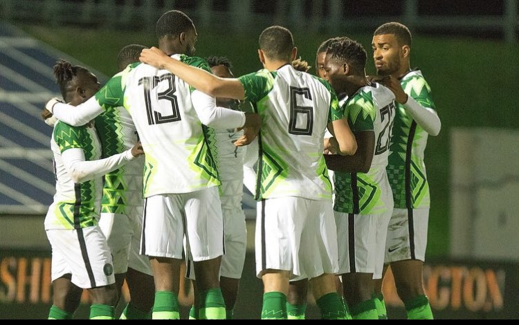 Super Eagles of Nigeria lost one and drew another in their two friendly games against Algeria and Tunisia (Twitter/Super Eagles)