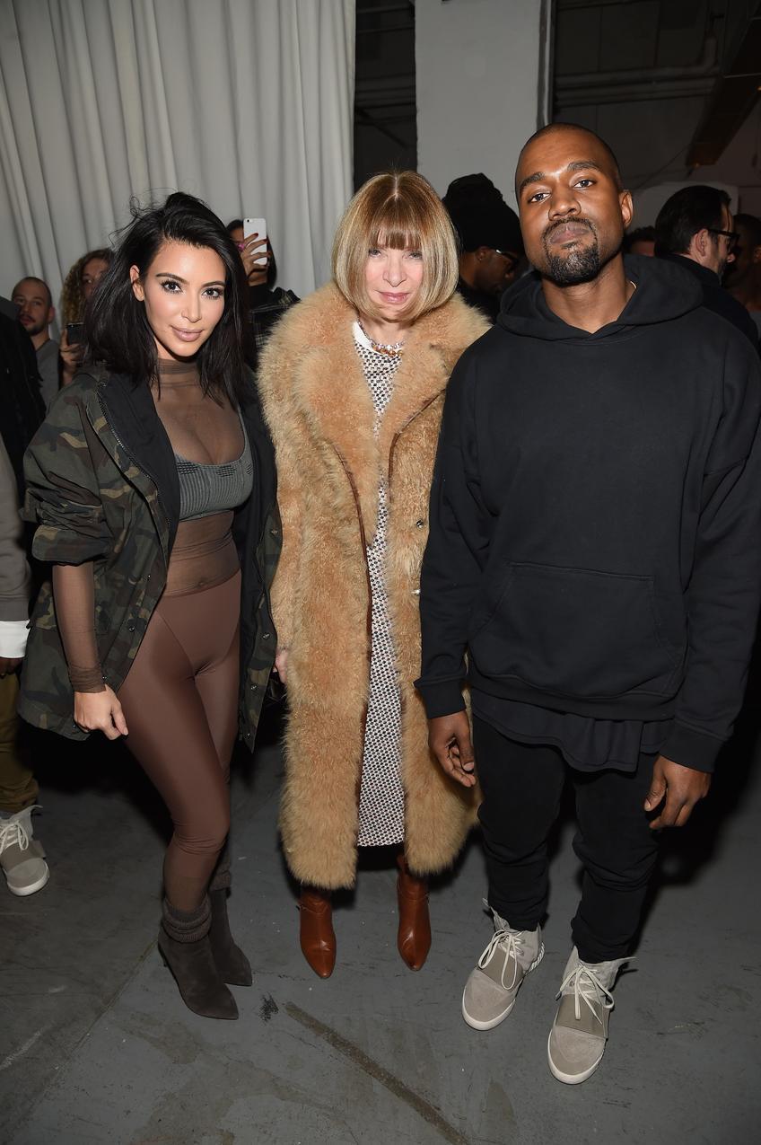 Kim Kardashian Anna Wintour Kanye West / fot. Getty Images