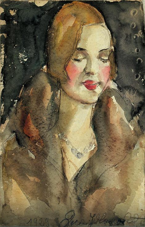 Desa Glišić Jovanović: Portret Olge Milunović iz 1929. godine