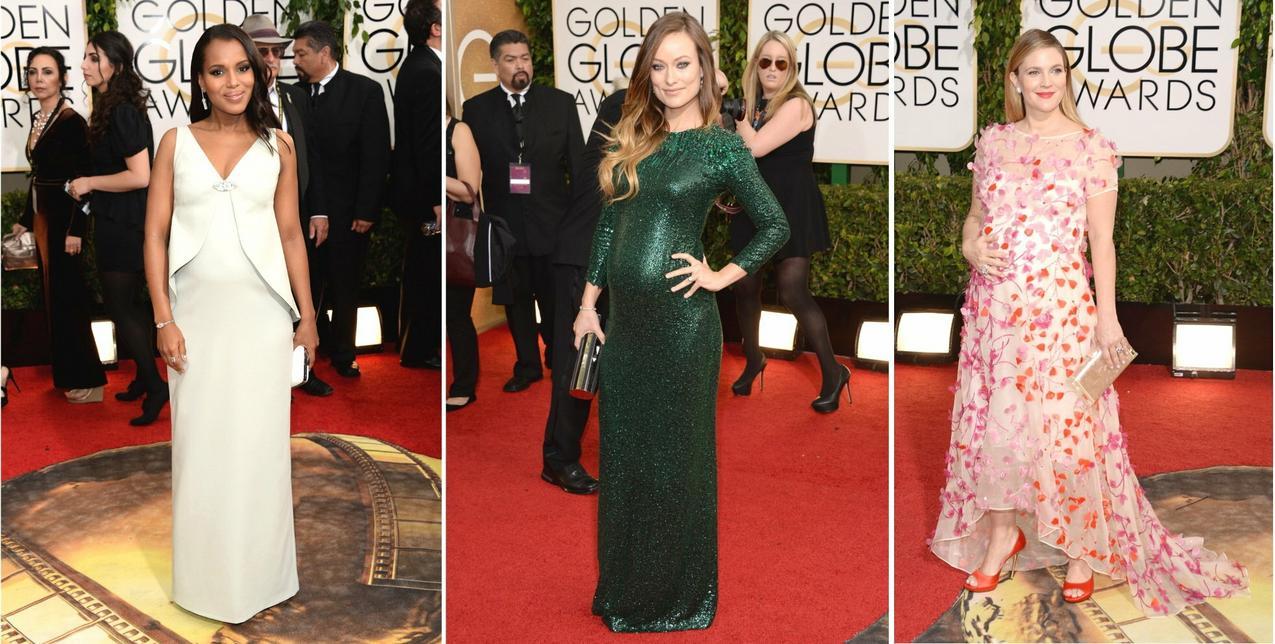 Ciężarne gwiazdy na Złotych Globach / Getty Images