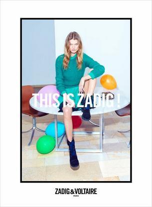 Kolorowa Małgosia Bela w kampanii Zadig & Voltaire