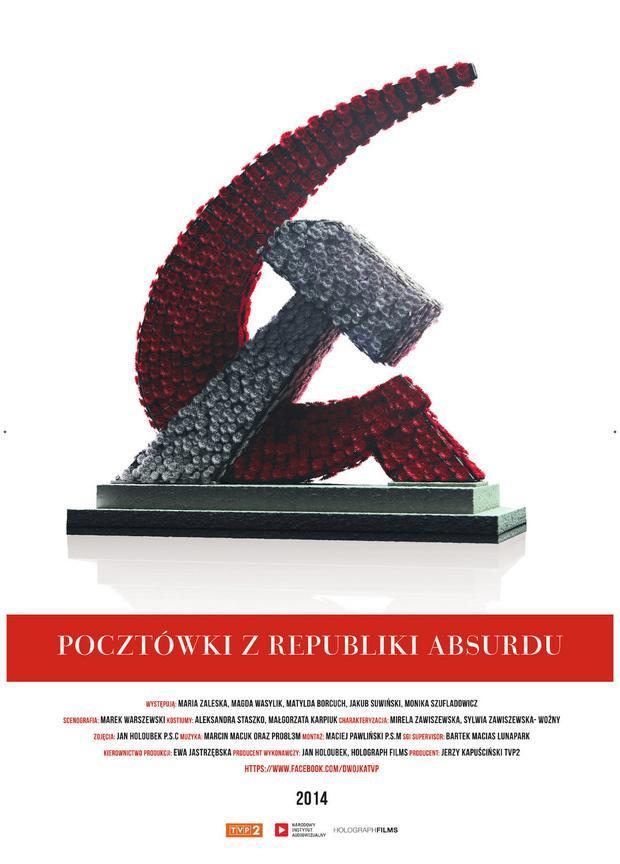 """""""Pocztówki z Republiki Absurdu"""" - plakat"""