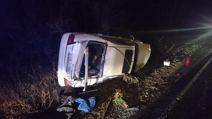 A kocsi egy kamionnal ütközött /Fotó:Blikk