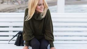 Wełniany sweter - z czym nosi go Kasia Tusk?