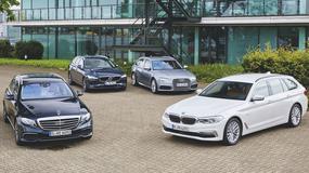BMW serii 5 kontra Mercedes E220d, Volvo V90 D4 i Audi A6 - oto flota marzeń