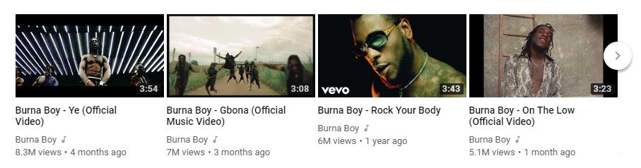 Burna Boy Top 4