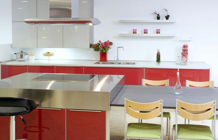Kuchnia w czerwonym kolorze  Dom