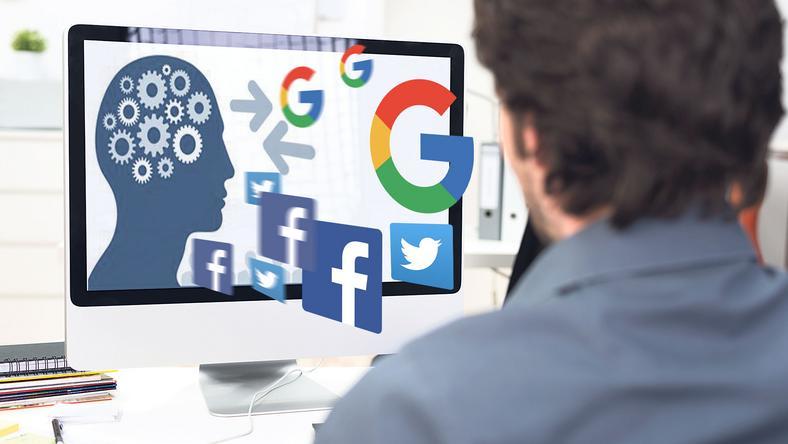 A számítógép előtt  felnövő Z generáció számára létszükséglet a rengeteg információ /Fotó: Shutterstock, grafika: Séra Tamás