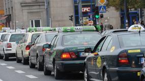 Taksówkarze protestują w Warszawie