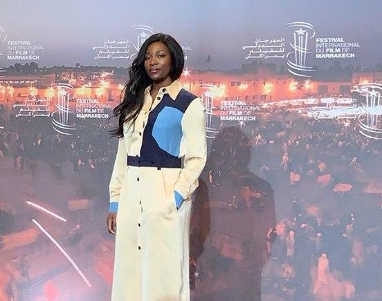 Genevieve Nnaji screened 'Lionheart' at the Marrakech film festival 2018 in Morroco.