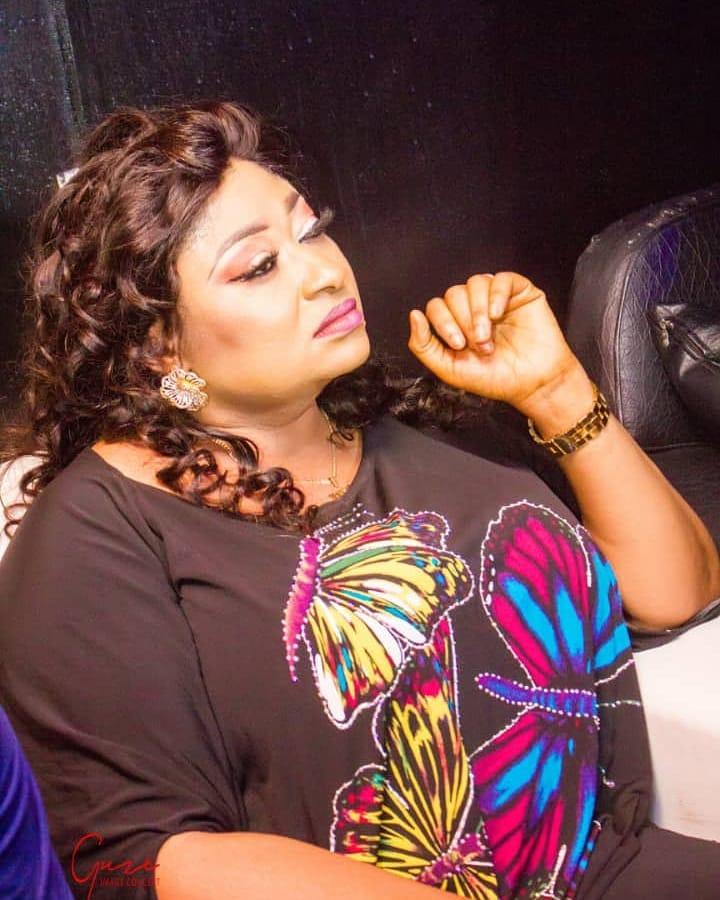 Ronke Oshodi Oke worked with Bukola Oshadare on the set of her movie, 'Ede Mi.' {instagram/ronkeoshodioke]