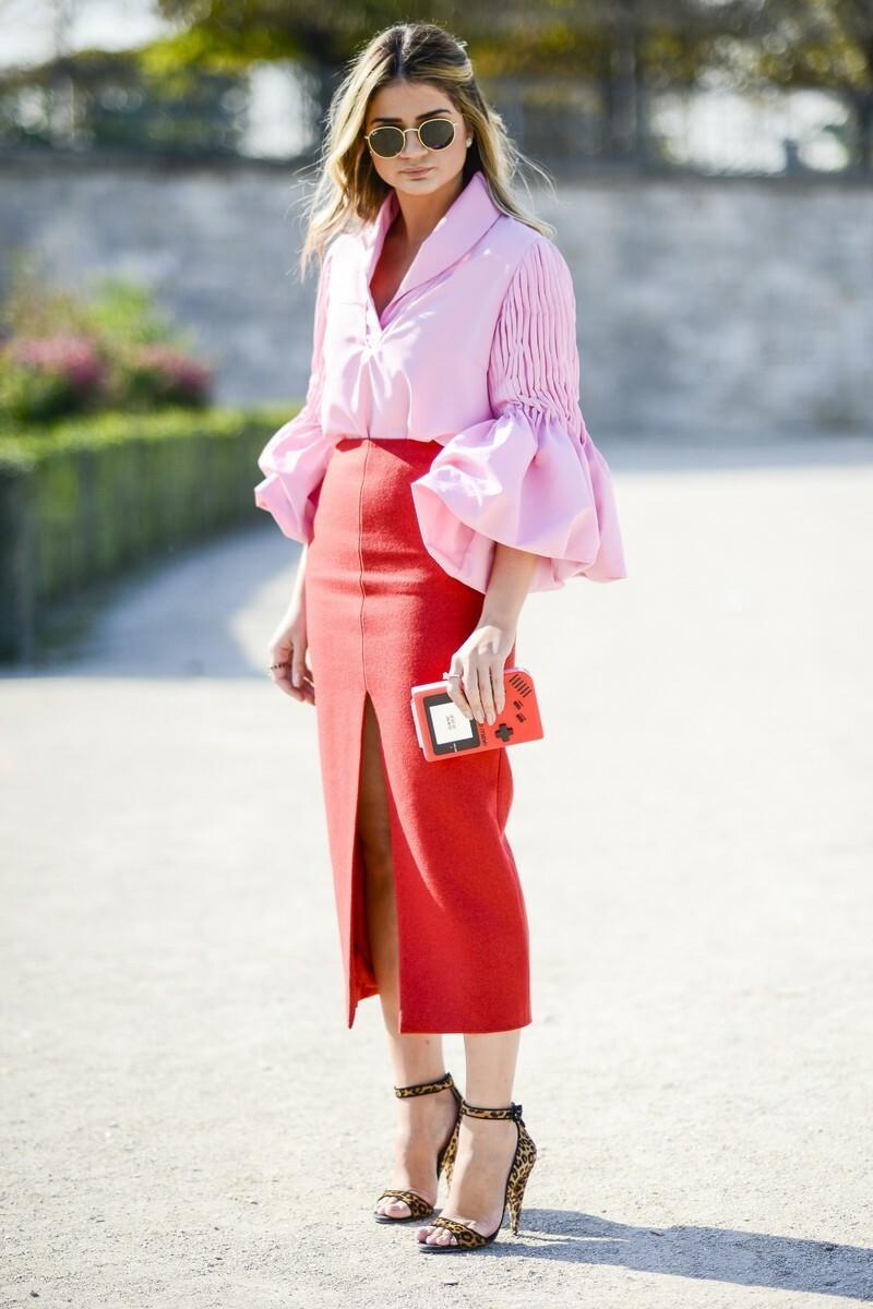 Trendy jesień 2016: czerwona spódnica