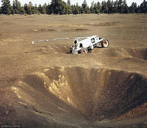 Eksperimentalno vozilo je služilo za istraživanje kratera