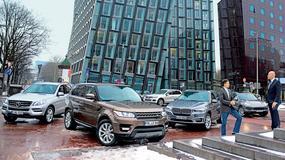 Mercedes ML kontra Range Rover Sport, Volkswagen Touareg i Porsche Cayenne - terenówki dla wymagających