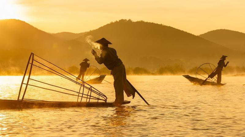 Burmai halászok / Fotó: Profimedia-Reddot