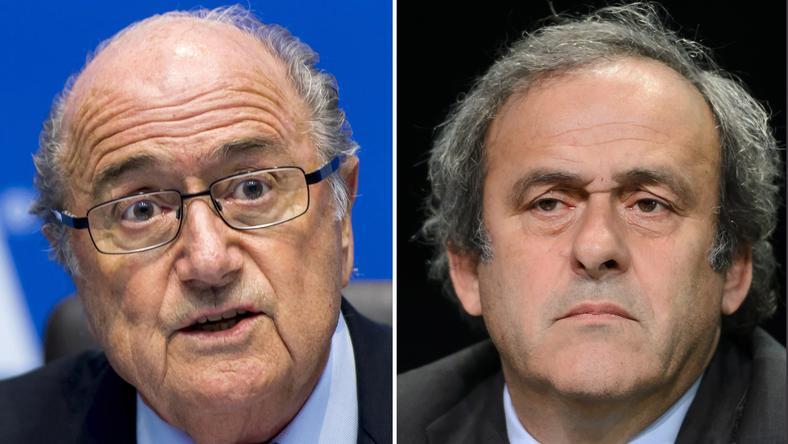 Blatter (balra) és Platini büntetését mérsékelték/Fotó: AFP