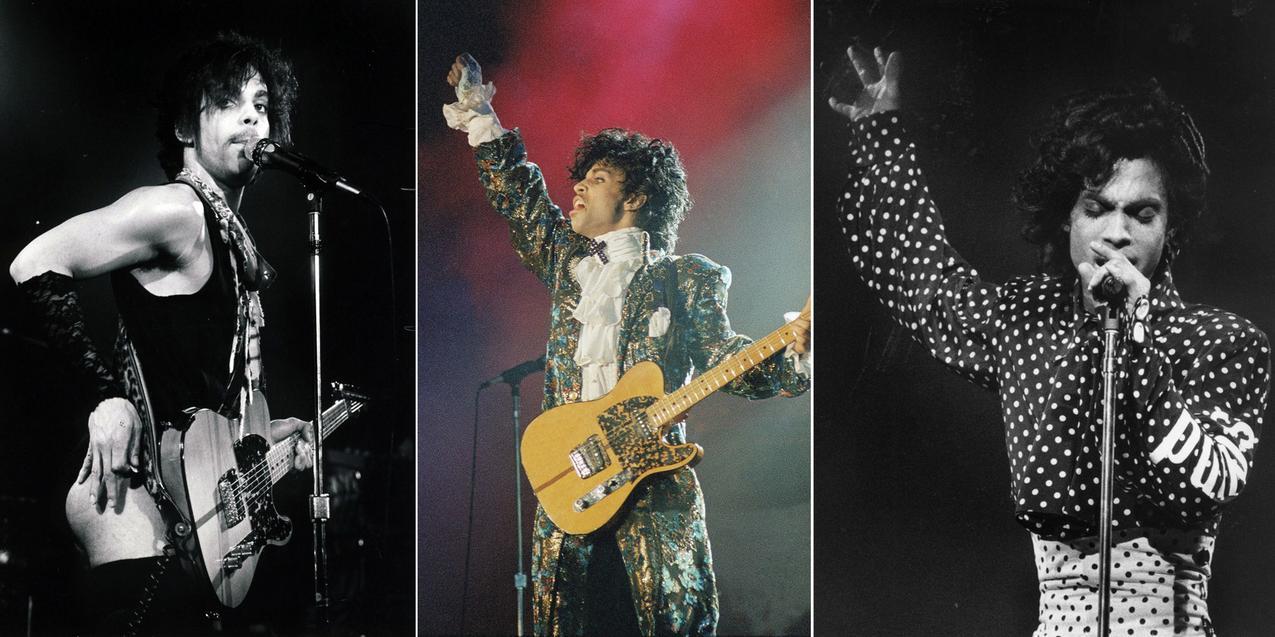 Prince i jego stroje sceniczne z 1981, 1985 i 1988 roku