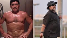 """Diego Maradona zrzucił 20 kilogramów i pokazał """"kaloryfer"""""""