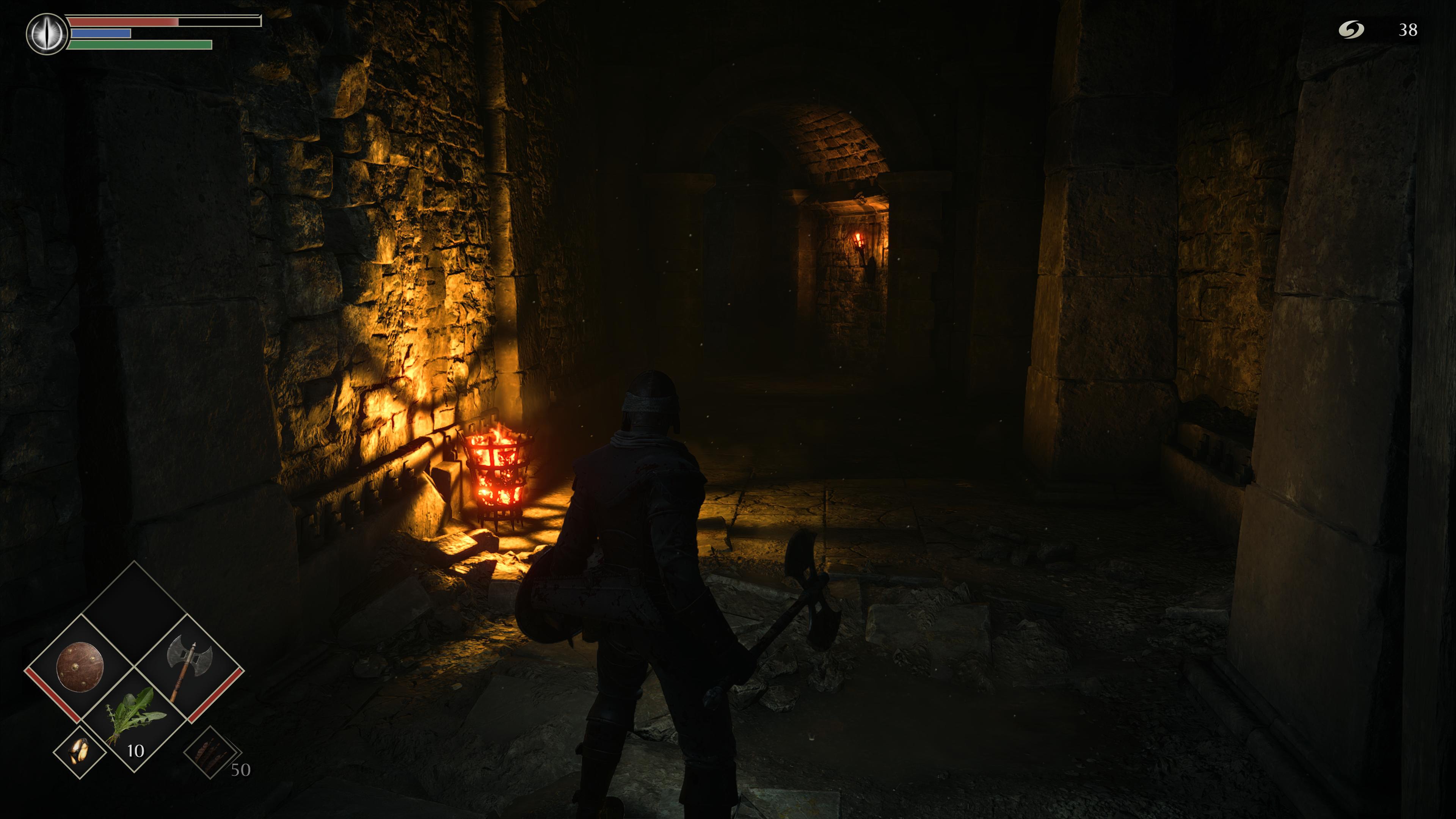 Temné Demon's Souls, ktoré by malo naplno demonštrovať možnosti konzoly, paradoxne nevyužíva ray tracing. Grafika a práca so svetlom je ale aj tak na nadštandardná.