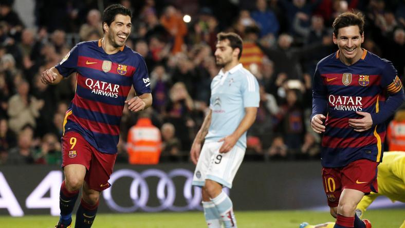 Messinek és Suareznek sikerült a trükkös 11-es/Fotó: AFP