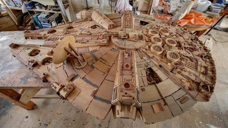 Egy ausztrál asztalos összesen háromezer különféle elemet gyártott méretre harminc különböző faanyagból / Fotó: Martin Creaney Woodwork Artist