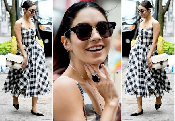 Best Look: Vanessa Hudgens w kraciastej sukience Dolce&Gabbana