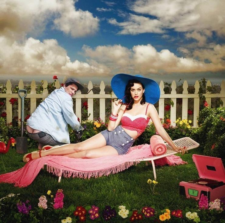 Kertészkedett Katy Perry mellett/ Fotó: Instagram