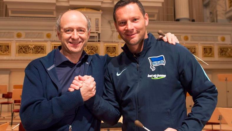 Fischer és Dárdai a berlini Konzerthausban / Fotó: Hertha BSC