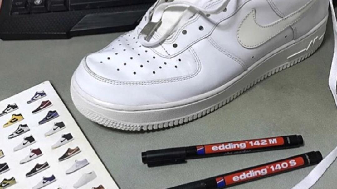 Heads Schuhe machen und echte ihre an Sneaker malen UVpSzM