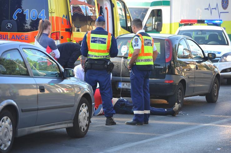 A motoros meghalt a balesetben /Fotó: Blikk