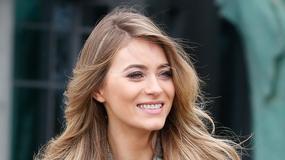 Uśmiechnięta i stylowa Marcelina Zawadzka pod studiem TVP. Miłość jej służy?