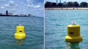 Boja ostrzeże pływaków przed brudną wodą