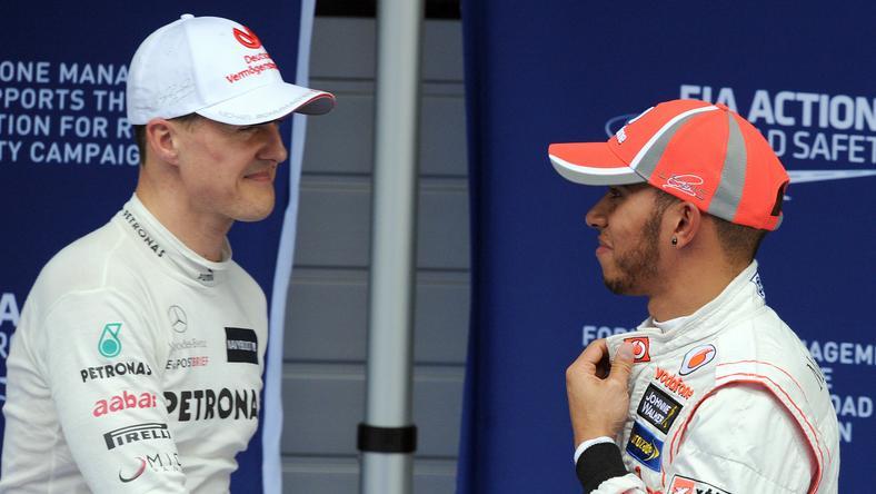 Schumacher és Hamilton /Fotó: AFP