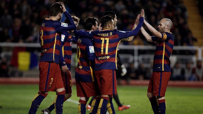 Újabb győzelmet ünnepelhetett a Barca / Fotó: AFP