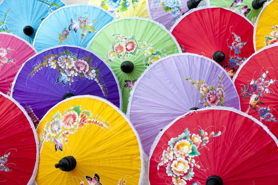 Parasolki z wioski Bo Sang