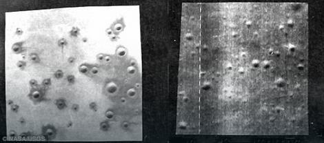 Pejzaž u pustinji Sinder lejk (levo) i predeo Meseca koji je poslužio kao model (desno)