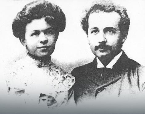 Albert Ajnštajn sa suprugom Milenom