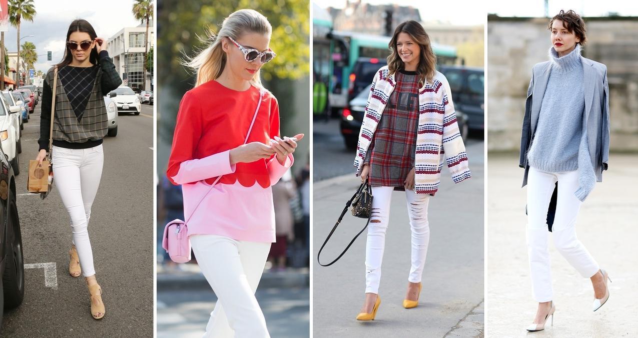 Hit na wiosnę: białe spodnie