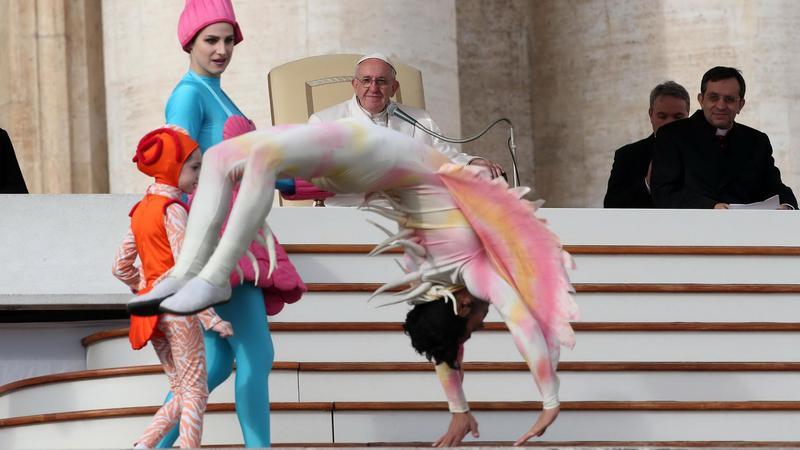 Cirkusz a Pápai audiencián - Fotó: MTI