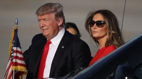 Melania Trump wita męża na lotnisku. Od pary bije chłodem, ale pierwsza dama wygląda zachwycająco!