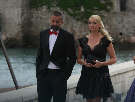 Selektor teniske reprezentacije Srbije Bogdan Obradović sa suprugom