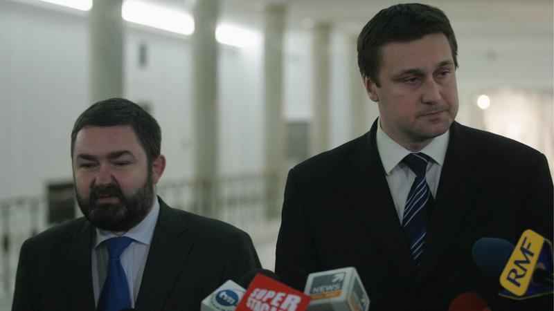 Karol Karski i Łukasz Zbonikowski, fot. Wojciech Olkuśnik/Agencja Gazeta